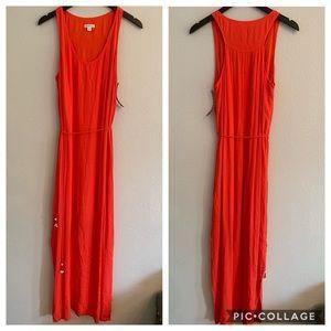 Merona NWT Coral Maxi Dress Sz M